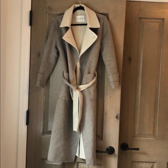 jing Jackets & Blazers - Grey and cream wool coat!